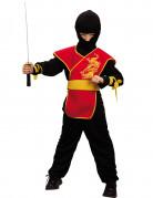 Disfraz rojo de ninja para ni�o