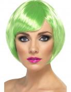 Peluca corta color verde para mujer, ideal para Saint Patrick