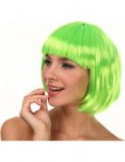 Peluca corta verde para mujer, ideal para Saint Patrick