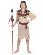 Disfraz p�lido de india para ni�a