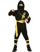 Disfraz amarillo de ninja dragon para ni�o
