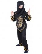 Disfraz negro y dorado de ninja para ni�o