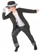 Disfraz negro de estrella del pop para ni�o