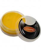 Maquillaje con base acuosa amarillo