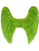 Par de alas de �ngel verdes (65 x 65 cm)